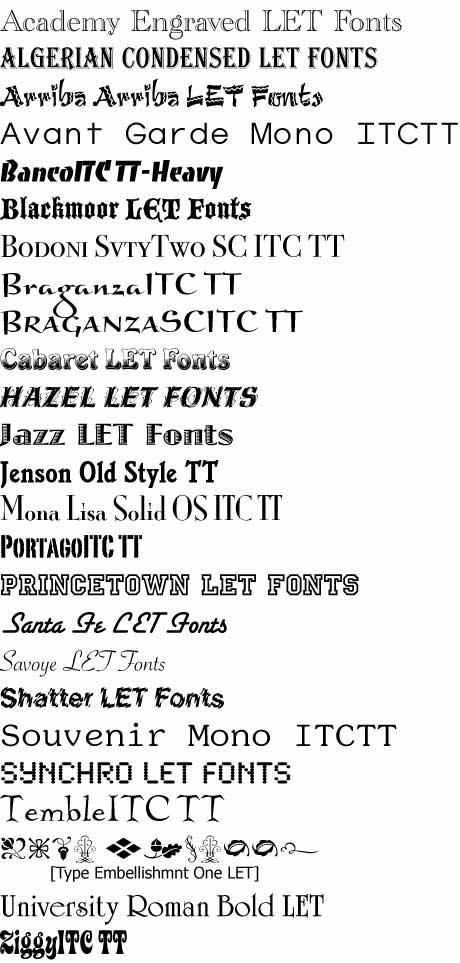 free fonts for mac os x